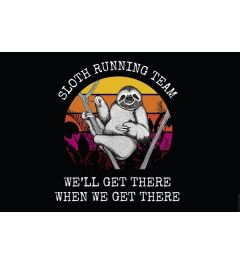 Sloth Running Team Poster 61x91.5cm