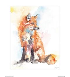 Handsome Fox Art Print Jennifer Rose 40x50cm