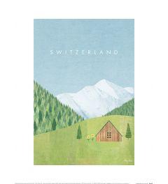 Henry Rivers Switzerland Art Print 30x40cm