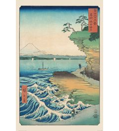 Hiroshige Seashore at Hoda Poster 61x91.5cm