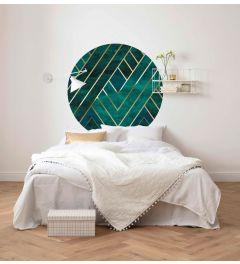 Jade Selbstklebende runde Tapete ⌀125cm