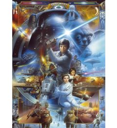 Star Wars Luke Skywalker Collage 4-delig Fotobehang 184x254cm