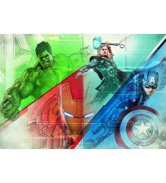 Avengers Graphic Art 8-delig Fotobehang 368x254cm