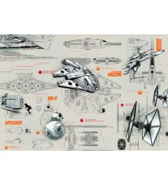 Star Wars Blueprints 8-delig Fotobehang 368x254cm