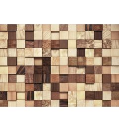 Lumbercheck 8-teilig Fototapete 368x254cm