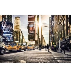New York Times Square 4-delig Vlies Fotobehang 368x248cm