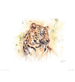 Leopard Art Print Jennifer Rose 40x50cm