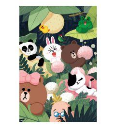 Line Friends Jungle Poster 61x91.5cm