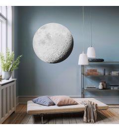 Luna Selbstklebende runde Tapete ⌀125cm