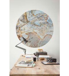 Marble Sphere Selbstklebende runde Tapete ⌀125cm