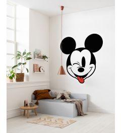 Mickey Head Optimism Selbstklebende runde Tapete ⌀125