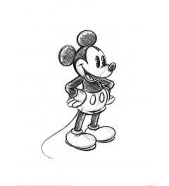 Mickey Mouse Sketch Art Print 60x80cm