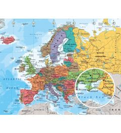 European Map 2014 Poster 50x40cm