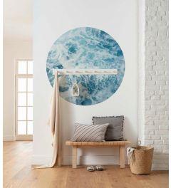 Ocean Twist Selbstklebende runde Tapete ⌀125cm