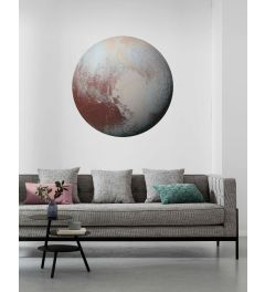 Pluto Selbstklebende runde Tapete ⌀125cm