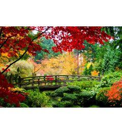 Brücke im japanischem Garten
