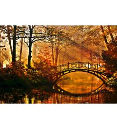 Brücke im Mistig Park 7-teilige Fototapete 350x260cm