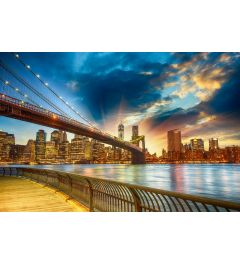 Manhattan Sonnenuntergang 7-teilig Fototapete 350x260cm