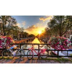 Amsterdam Sonnenaufgang 7-teilige Fototapete 350x260cm