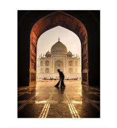 Sunrise At Taj Mahal Art Print