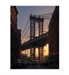 Manhattan Bridge By Night Art Print