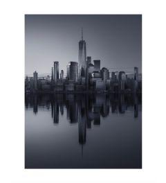 Manhattan Reflection B&W Art Print