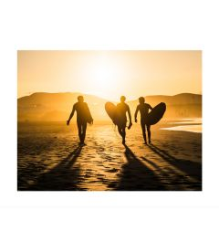 Surfers At Sunset Art Print