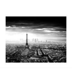 Skyline Of Paris B&W Art Print