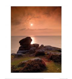 Mark Squire Cornish Sunset at Lands End Art Print 40x50cm