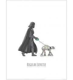 Star Wars Vader's Boredom Busting Ideas Regular Exercise Art Print 30x40cm