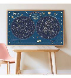 Poppik Sternenhimmel Glühen Sternen Sticker Poster 100x68cm