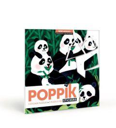 Poppik Wilde Tiere Sticker Karten 18x18cm