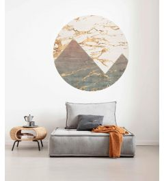 Precious Peaks Selbstklebende runde Tapete ⌀125cm