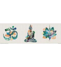 Summer Thornton Poster Yoga Triptych  30x91.5cm