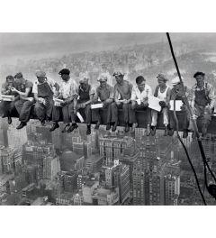 Mittagessen in einem Wolkenkratzer Poster 40x50cm
