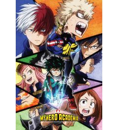 My Hero Academia Characters Mosaic Poster 61x91.5cm