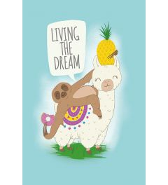 Living The Dream Llama & Sloth Poster 61x91.5cm