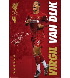 Liverpool FC Virgil Van Dijk Poster 61x91.5cm
