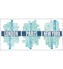 London, Paris und New York
