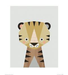 Tiger Art Print Little Design Haus 40x50cm