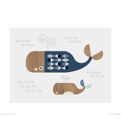Wale Art Print Little Design Haus 40x50cm