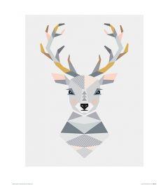 Hirsch Art Print Little Design Haus 40x50cm