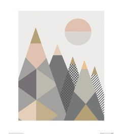 Geo-Berge I Art Print Little Design Haus 40x50cm