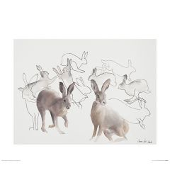 Springende Hasen Art Print Aimee Del Valle 40x50cm