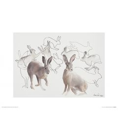 Springende Hasen Art Print Aimee Del Valle 30x40cm