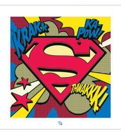 Superman - Pop Art Schild