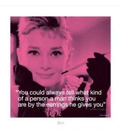 Audrey Hepburn - I Quote - Earrings