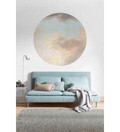 Relic Clouds Selbstklebende runde Tapete ⌀125cm