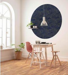 Royal Blue Selbstklebende runde Tapete ⌀125cm