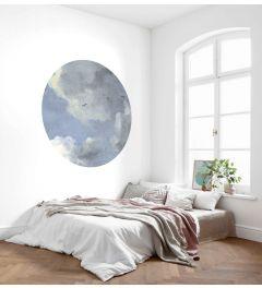 Simply Sky Selbstklebende runde Tapete ⌀125cm